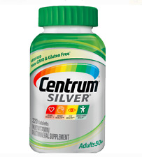 Centrum Silver Multivitamin Supplement Adult 50+ 220 Tablets NEW Exp 05/21 & UP