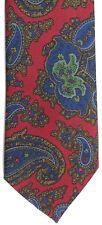 """Harrod's Men's Silk Tie 58"""" X 3.25"""" Multi-Color Abstract Paisley"""