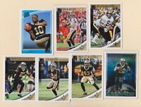 2018 DONRUSS FOOTBALL   A Manning  D Brees  T Smith   Saints   7 CARD LOT