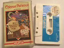 Chino paciencia Sinclair ZX Spectrum 48K Cassette Cinta Juego de cartas por Atlantis