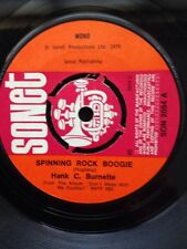 "Hank C. Burnette - Spinning Rock Boogie 7"" Vinyl UK Sonet SON 2094 (1976)"