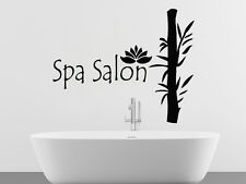 Spa Salon Wall Decals Bamboo Lotus Vinyl Sticker Home Decor Bathroom Decal MS401