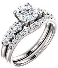 GIA 1.00 carat Round Diamond Engagement Wedding 14k White Gold Ring G SI1