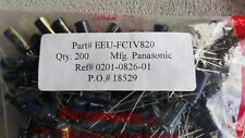 QTY (200) 82uf 35V  LOW IMPEDANCE ELECTROLYTIC EEUFC1V820 PANASONIC ROHS