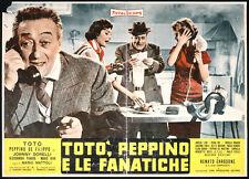 CINEMA-fotobusta TOTO' PEPPINO E LE FANATICHE mattoli