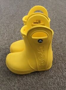 Crocs Toddler size 6 Rain Boot Yellow pre-owned