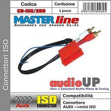 CONNETTORE AUTORADIO ISO ORIGINALE PER AUDI USCITA PRE-OUT MINI ISO 2 CANALI