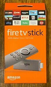 Amazon Fire TV Stick 2nd Generation Media Streaming Device Alexa Voice Remote