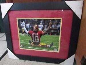 NFL Washington Redskins RG3 Robert Griffin III  #10 Large Photo Framed Brand New
