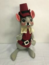 Vintage 1965 Annalee Mobilitee Doll Thanksgiving Mouse Pilgrim Large AS IS