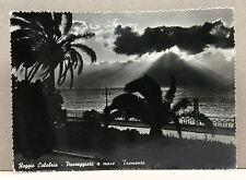 REGGIO CALABRIA - Passeggiata a mare - Tramonto [grande, b/n. viagg.]