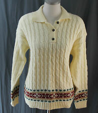 The American Collection, Medium Ivory Collared Sweater