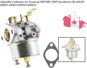 Adjustable Carburetor for Tecumseh 8HP 9HP 10HP Snowblower Re 640349 640052 6...