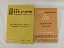 VINTAGE FIAT REPAIR SERVICE MANUALS 124 850 600D SPORTS ROADSTER COUPE SET OF 2