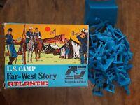 US CAMP FAR WEST STORY ATLANTIC FIGURES #1207 1/32 SCALE (21 FIGURES) RARE