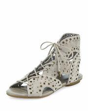 NIB $328 Joie Fabienne Lace-Up Flat Sandals 37.5 / 7.5