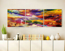 "3PCS 16x16"" Abstract Wall Decor Art Oil Painting on Canvas NO frame Vintage"
