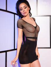 L/XL BLACK SIZE 16 to 18 CHEMISE DRESS EROTIC LINGERIE SEXY UNDERWARE NIGHTWARE
