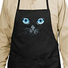 Black Cat Blue Eyes New Apron Grill Cook Bar Gifts Kitchen