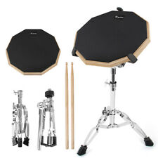 Kmise Snare Drum Practice Pad 12 inch Double Side with Stand Sticks for Beginner