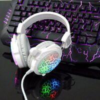 USB 3.5mm PC Gaming Headset Stereo Surround Headphone Earphone LED w/ Microphone