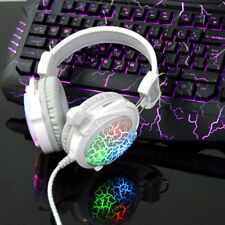 USB 3.5mm PC Gaming Headset Stereo Surround Headphone Earphone LED w/ Microphone