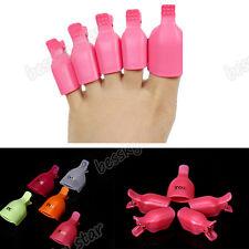 Pro 5 pièces Ongle de pied Soak Off Clip Capsules Gel Nail Art Embouts