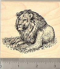 Lion Resting Rubber Stamp, African and Asian Wildlife M5802 WM