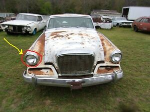 1962 STUDEBAKER GRAN TURISMO RIGHT HEADLIGHT BEZEL TRIM DOOR CHROME PART HAWK