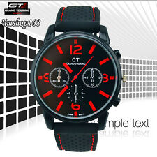 Fashion Men's Watch Cool GT Stainless Steel Sport Analog Quartz Wrist Watch