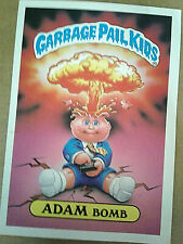GPK Garbage Pail Kids Giant OS1 1st Series #8 Adam Bomb Glossy Back Sticker/Card