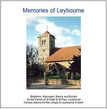 Leybourne, Kent -Genealogy CD- Census & Parish Registers (BMD) Transcripts