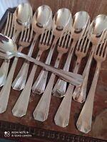6 Couverts de Table Orfèvrerie Christofle Modèle Boréal Art Déco