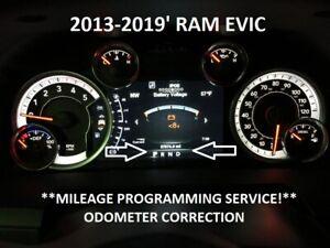 "Dodge Ram EVIC 7"" DISPLAY Speedometer Instrument Cluster Mileage Programming"