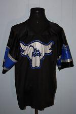 2001 WWF The Rock Electrifying #1 Black Silver Blue Football Jersey 52 XL