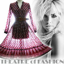 Vintage Indian Dress 70 s GAZE 8 10 12 14 16 18 S M L XL XXL Hippy Boho Mariage