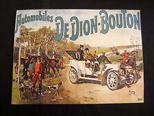 AFFICHE PUBLICITE AUTOMOBILES DEDION-BOUTON ILLUSTRE PAR ANGLAY 32.5/23.5 CM