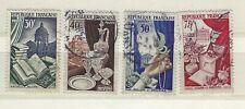 Lot FRANCE, 1954, Mi. - Nº 997 - 1000 estampillé (258)