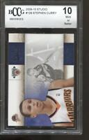 2009-10 Stephen Curry Studio #129 BGS BCCG 10 RC Rookie Golden State Warriors