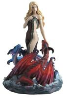 "8"" Dragon Bathers by James Ryman Statue Fantasy Sculpture Dragons Decor"