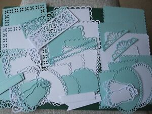 Craft Room Clear out Assorted  Die Cuts White and Baby Blue