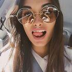 Oversized Hippe Bohemian 70's Round Circle Frame Large Sunglasses Womens Shades