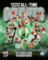 Boston Celtics Greats Larry Bird Russell McHale Ainge Parish Cousy 8x10 Photo