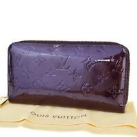 Auth LOUIS VUITTON Bifold Zippy Wallet Monogram Vernis Leather M93522 66SB035