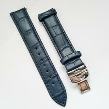 Tissot Dark Blue Leather Straps 19mm Watch Band for PRS200 PRC200 PR100 LeLocle