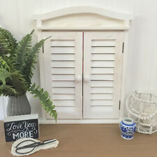 White Timber Mirror With Shutters/Wood/Window/Hampton's/Country Farmhouse
