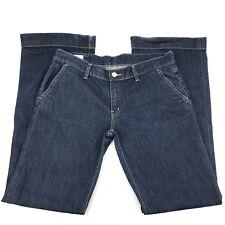 Lacoste Womens Jeans Sz 42 Flare Bootcut Blue Denim Dark Wash