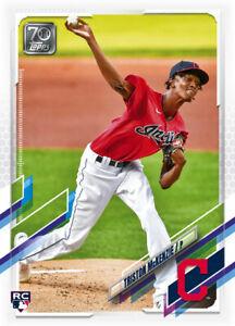 2021 Topps MLB Digital NFT Series 1 Triston McKenzie 2470/2657 RC ROOKIE