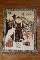 "Goodwin Weavers Cotton Santa Claus Father Christmas Throw Blanket 64"" x 45.5"""