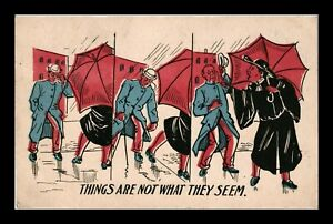 DR JIM STAMPS US UMBRELLA NOT WHAT THEY SEEM COMIC POSTCARD 1907